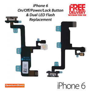 newest 3efec a9a05 Details about NEW iPhone 6 Replacement On Off Power Lock Button Dual LED  Flash Repair UK Stock