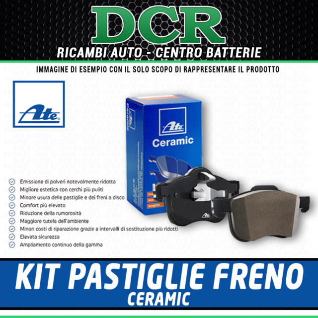 Kit de Pastillas de Freno ATE Ceramic LD7140 Alfa Fiat Lancia