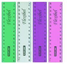 Neon Lineal flexibel Flex Flachlineal biegbar biegsam 15 oder 30 cm Groß Schule