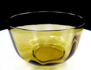 VICTORIAN-ERA-OLIVE-GREEN-PANEL-OPTIC-GLASS-2-3-4-034-WASTE-BOWL