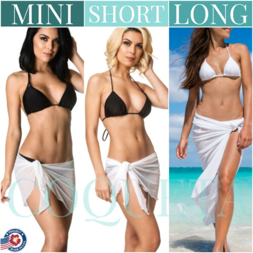 COQUETA NEW MINI SHORT LONG COVER UP BIKINI MESH PAREO SARONG BEACH SWIMSUIT S