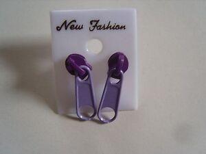 Ohrring-mit-Reissverschluss-lila-pink-Zipper-Hingucker-suessssss-2984