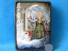 Russian GICLEE Lacquer box Fairy Tale Frog Princess Tsarevna Vasilisa FEDOSKINO
