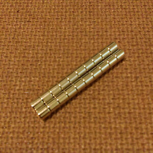 20 Neodymium Cylindrical (1/8 x 1/16) inches Cylinder/Disc Magnets.