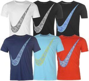 NIKE-PALM-Swoosh-Herren-T-Shirt-Freizeitshirt-Rundhals-Sportshirt-Sommershirt
