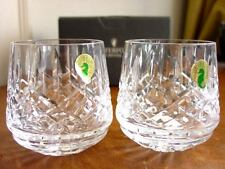 Waterford Crystal ARAGLIN Roly Poly Tumblers SET / 2 (Pair) IRELAND - NEW / BOX!