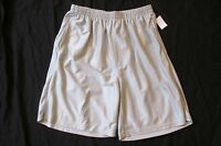Men's Graphite Sport Silver Basketball Athletic Gym Shorts Size Large