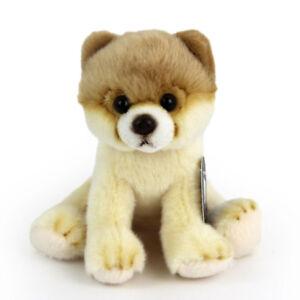 Stofftier-kleiner-Pomeranian-Hund-Plueschtier-H-ca-13-cm-Zwergspitz