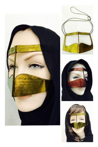 batoola metallisch Beduinen Niqab Arabischer Veil Gulf Wüste muslimisch Damen