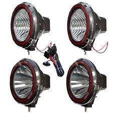 9 Inches 4x4 Off Road 6000k 55w Xenon Hid Fog Lamp Light Floodspot 4pcs Relay
