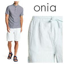 NWT Onia Austin Linen Shorts Deep Navy MWB14-13 $120 Size 32