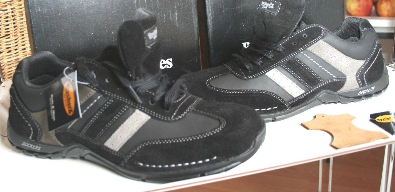 DOCKERS  COUNTRYLAND MOKASSIN  Neu black grey kombiniert  echt Leder44