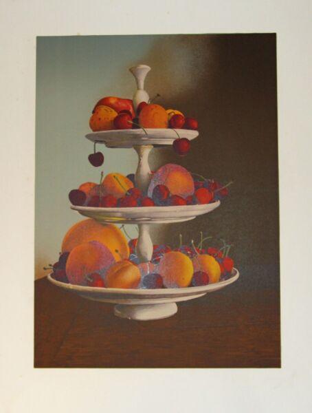 """ Coupe Aux Fruits ""litografía Según Jean-claude Niort"