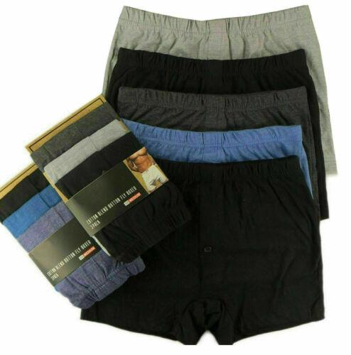 3 12 Pairs Men Plain Boxer Underwear Classic Cotton Rich Boxers Shorts S-6XL 6