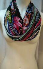 Bright country floral bright Cowgirl Serape striped scarf ~ 2 scarves in one!!
