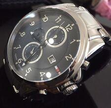Mens Large Tommy Hilfiger Bayside Designer Watch Day Date Month 1710296 Black