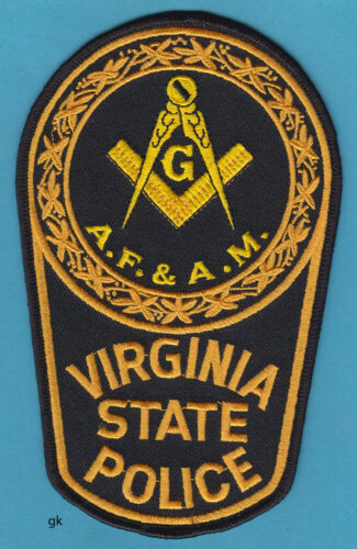 VIRGINIA STATE POLICE MASON MASONIC SHOULDER PATCH