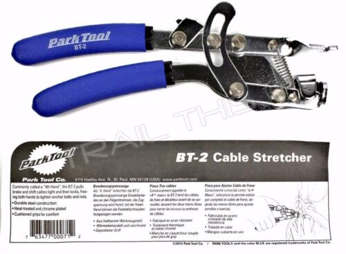Park Tool BT-2 Bike Cable Puller Stretcher Pliers Fourth Hand Tool w// Thumb Lock