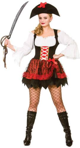 Ladies Charming Pirate Fancy Dress Costume