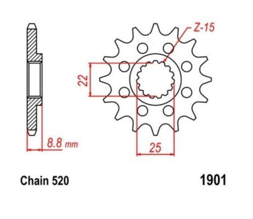 KR Ritzel 13Z Teilung 520 Sprocket KTM EXC 125 2T Sixdays  09-16