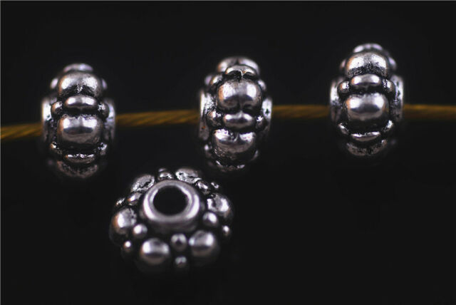 Bulks 50pcs Nice Jewelry Design Findings Crafts Metal Beads Spacers Charms 5x8mm