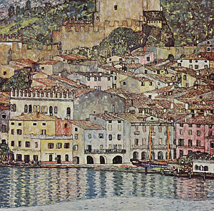 Gustav Klimt Bauerngarten Vintage Fine Art Print