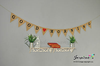 Good Morning jute Bruant de Hesse Bannière Photo Home Decor motivation Bureau