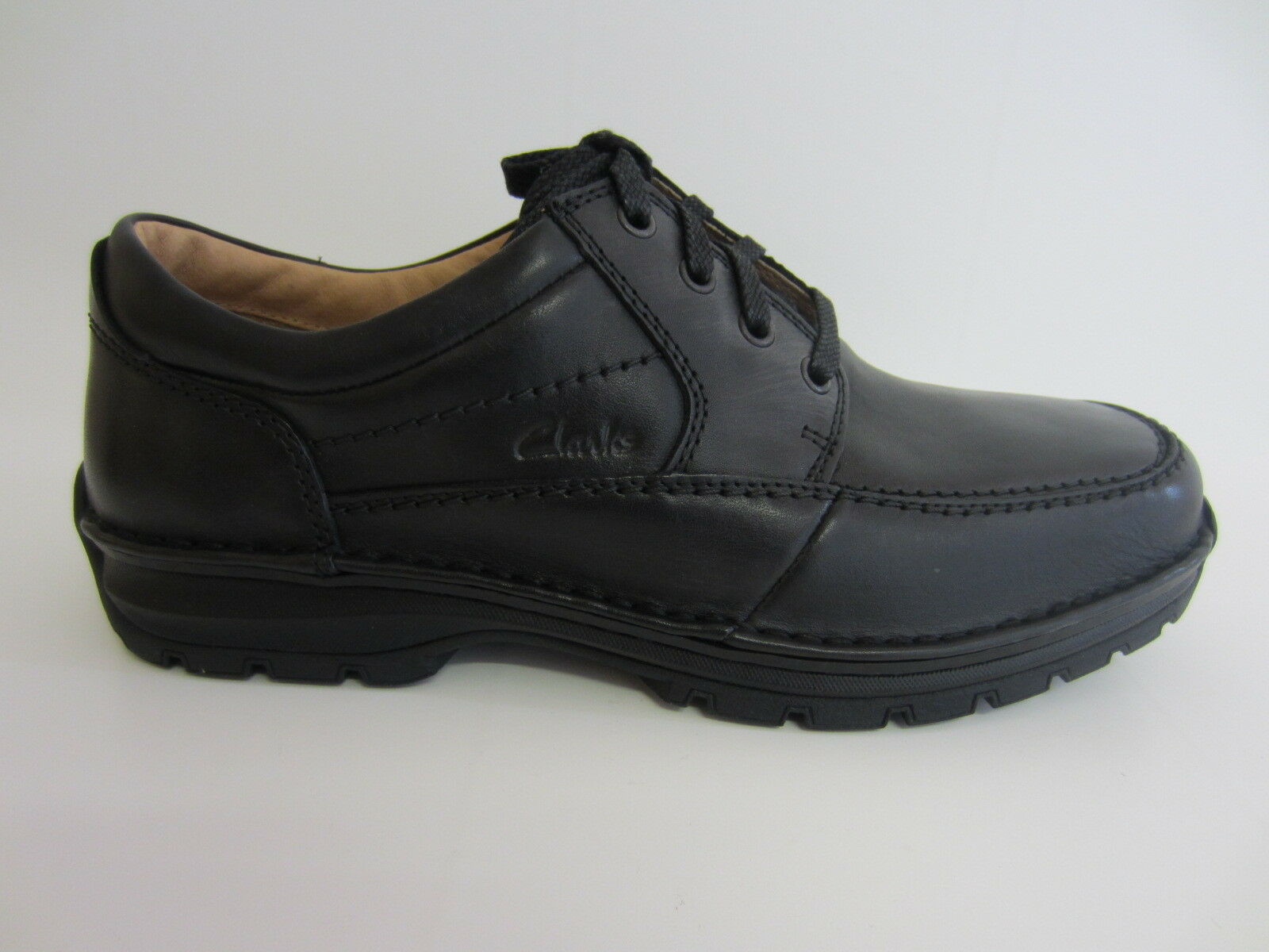 prodotti creativi Clarks Sidmouth pelle nera nera nera Key Lace-Up Scarpa Raccordo (R38B H) (Kett)  negozio fa acquisti e vendite