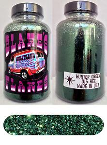 AgréAble Blakes Métal Flocon .015 Vert Chasseur Hot Rod Custom Automobile Custom 5oz Jar