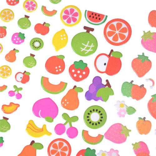 5 Sheets Cute Cartoon Fruits Scrapbooking Bubble Puffy Stickers Reward Kids-T/_WK