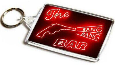 565961b854a1a Twin Peaks Bang Bang Bar Jumbo Keyring. Neon Sign, Road House   eBay