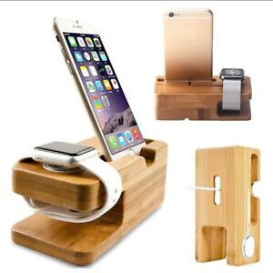 Image Is Loading Bamboo Wooden Charging Station Charger Dock Stand Holder