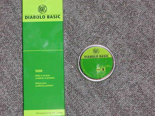 Diabolo für für für Luftgewehr Pistole 10 000 St neu RWS Basic 5f5edd