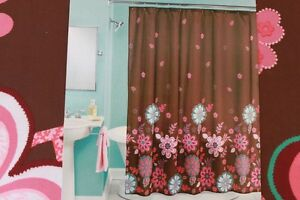 Image Is Loading PERI 034 NOLA FLORAL FABRIC SHOWER CURTAIN