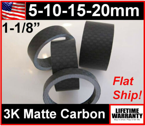 5 10 15 20 mm Carbon Handlebar Headset Stem Spacers Road BMX MTB Mountain Bike