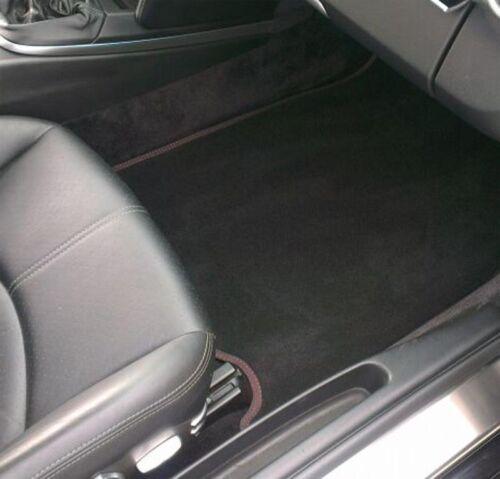 Für Seat Arona Fußmatten Velours Deluxe schwarz Nubukband Doppelnaht rot
