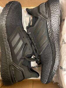 sufrimiento Picante Leyenda  Adidas £160 Ultraboost 20 Triple Black EG0691 Trainers Size UK 9 ...