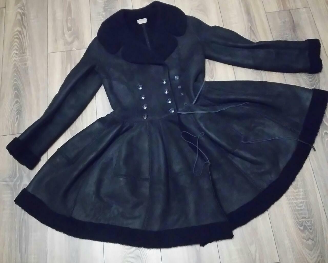 Alaia black  suede-Leather Shearling Princess Ple… - image 3