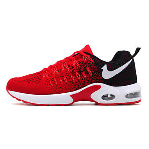 Men-039-s-Classic-Streamlining-Flyknit-Air-Cushion-Running-Athletic-Sneakers-Shoes