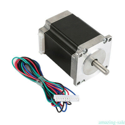 Nema 23 Stepper Motor 1.26Nm 2A 4-wires 8mm Shaft DIY CNC Router Mill XP9