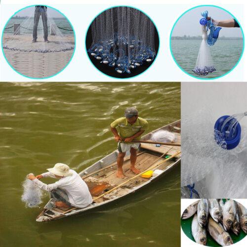 Zubehör Wurfnetz Fischernetz Fisch Netz Cast Net Köderfischnetz Angelnetz 22ft 3/4'' DHL Kescher & Netze
