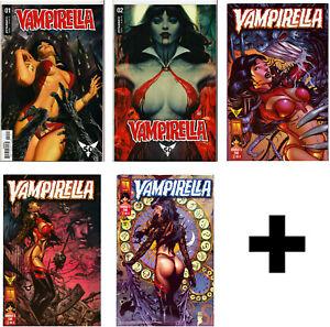 VAMPIRELLA-amp-RED-SONJA-COMIC-BOOKS-1-2-3-Harris-Dynamite-Comics-Horror