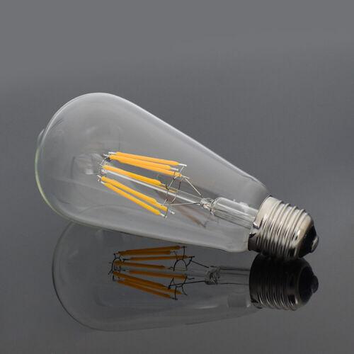 4//8//12//16W E27 Filament Lampen Bar ST64 Retro Industrie Stil Edison Glühbirnen