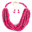Fashion-Boho-Crystal-Pendant-Choker-Chain-Statement-Necklace-Earrings-Jewelry thumbnail 152