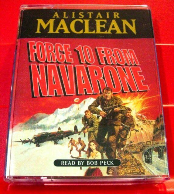 Alistair MacLean Force 10/Ten From Navarone 2-Tape Audio Bob Peck Guns Of Sequel