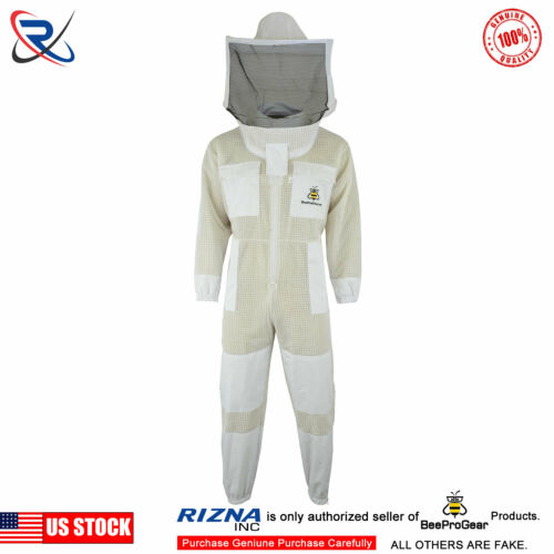 Beepro Ultra Ventilated 3 Layer Bee Beekeeper Suit Round Veil Small #UV13