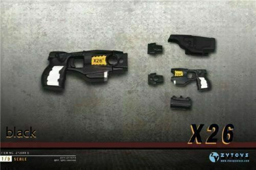 ZY TOYS 1//6 Gun Model Plastic Pistol DIY Assembled Taser X26 Stun Weapon Toy