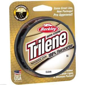 BERKLEY-Trilene-100-fluorocarbone-de-peche-ligne-200yd-4lb-25lb-Carpe-grossiers-jeu