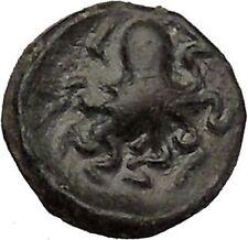 Sicily SYRACUSE Onkia Nymph Arethusa & Octopus Rare  Ancient Greek Coin  i43991