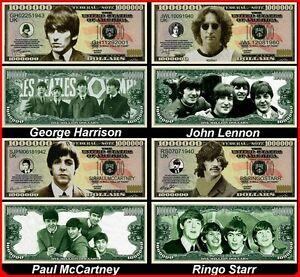 The-BEATLES-X4-BILLETS-MILLION-DOLLAR-US-John-LENNON-Paul-Mc-CARTNEY-Collection